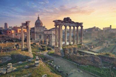 Poster Foro Romano. Immagine di Foro Romano a Roma, Italia durante l'alba.