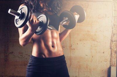 Poster Forte donna allenamento del corpo