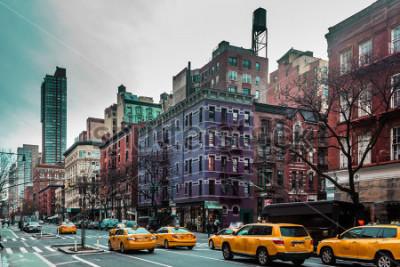 Poster Foto di edifici e strade del sito Upper West di Manhattan, New York City