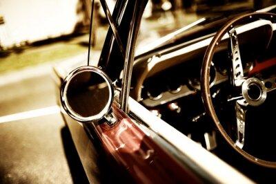 Poster frammento retro car