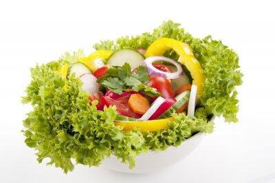 Poster frischer gesunder Salat mit Gemüse gemischtem