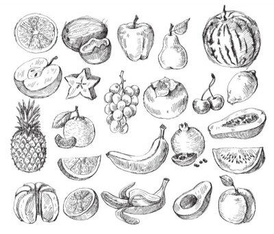 Poster frutta disegnati a mano