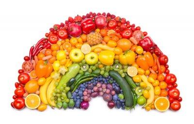 Poster frutta e verdura arcobaleno