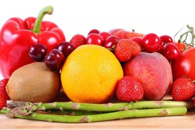 Poster frutta e verdura fresca, sana alimentazione