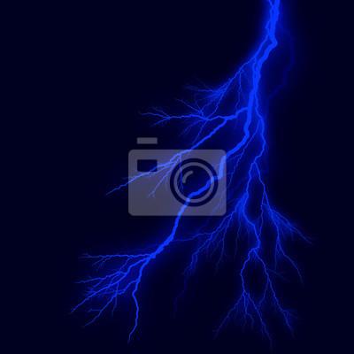 Fulmini Silhouette Sfondo Azzurro Del Cielo Blu Notte Manifesti Da