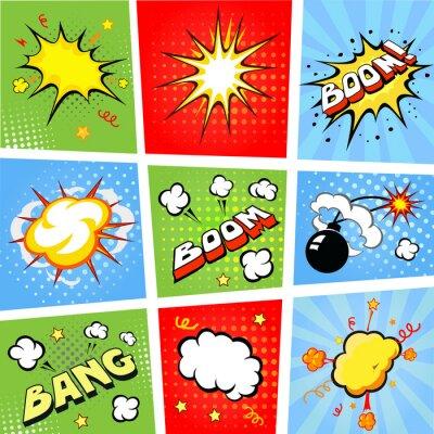 Poster Fumetti fumetti e fumetto illustrazione sfondo
