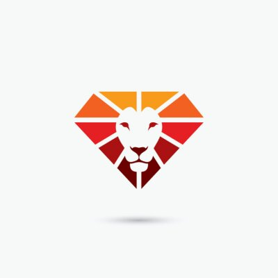 Poster Fuoco simbolo diamante leone
