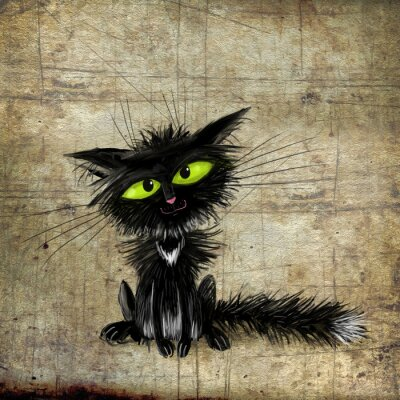 Poster Gatto nero