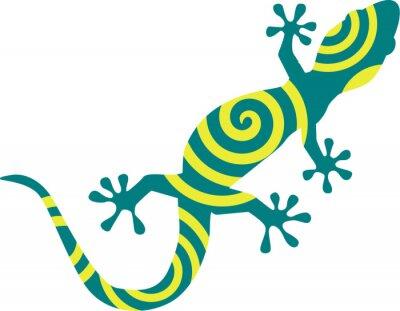Poster Gecko con cerchi