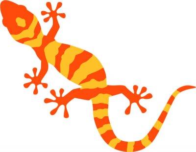 Poster Gecko con il modello arancio e giallo