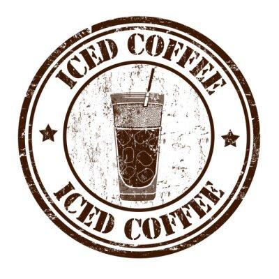 Poster Ghiacciato timbro caffè