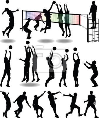 Poster giocatore di pallavolo