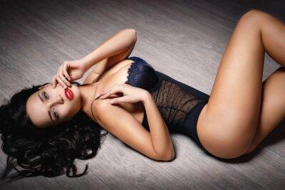 Poster Giovane ragazza in biancheria sexy