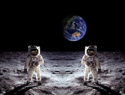 Poster Gli astronauti Moon Landing Terra
