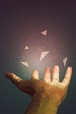 Poster Gli umani sono più potenti di quanto pensano, la tua mano può guarire o fare volare oggetti nell'aria