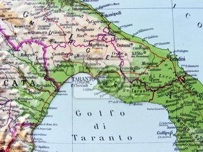Cartina Geografica Italia Gallipoli.Golfo Di Taranto Manifesti Da Muro Poster Monopoli Taranto Gallipoli Myloview It