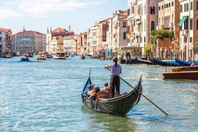 Poster Gondola sul Canal Grande a Venezia