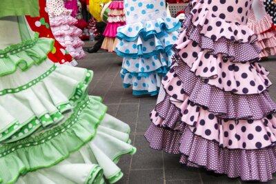 Poster gonne delle ballerine di flamenco spagnolo