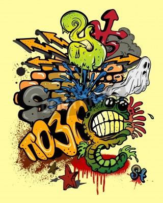 Poster Graffiti elements.