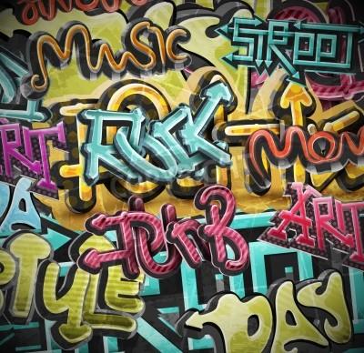 Poster Graffiti grunge, eps 10