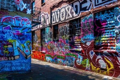Poster Graffiti sui muri di graffiti Alley, Baltimore, Maryland.
