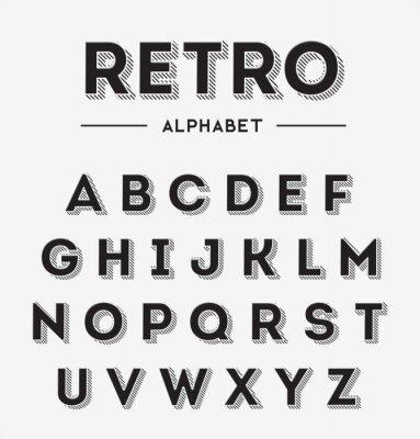 Poster Graphic Retro Lettere Set