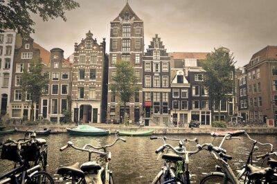 Poster grigia giornata in Amsterdam City