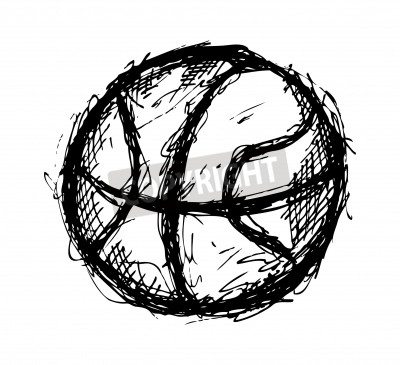 Poster Grunge basketball doodle