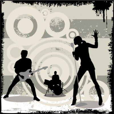 Poster grunge concerto vettore