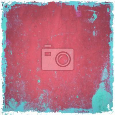 Grunge Sfondo Rosso Con Bordi Blu Manifesti Da Muro Poster Sfondo