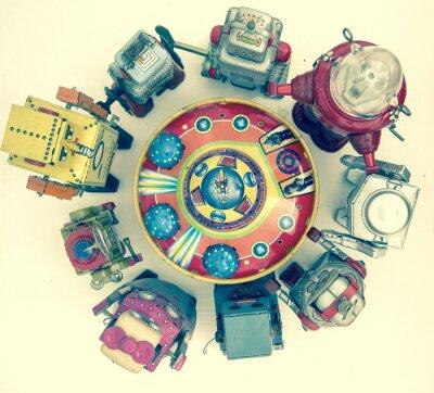 Poster gruppo di giocattoli robot