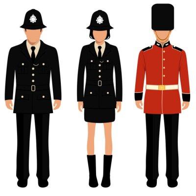 Poster guardia britannico, gli inglesi, poliziotto uk