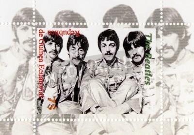 Poster Guinea - CIRCA 1996: The Beatles - 1960 famoso gruppo pop musicale