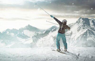 Poster Happy Skier