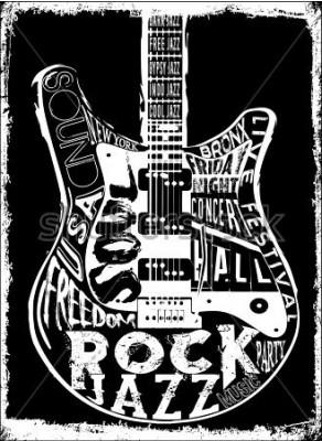 Poster Hard Rock Music Poster