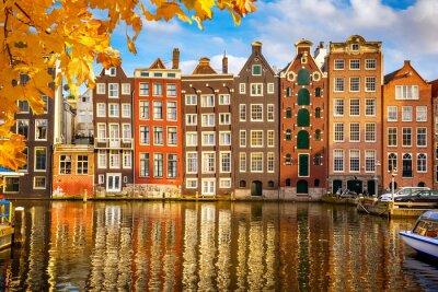 Poster I vecchi edifici in Amsterdam