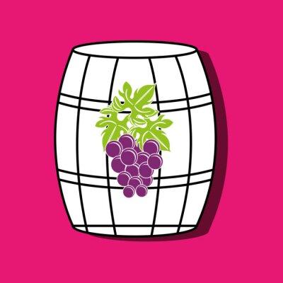Poster icona di progettazione vino