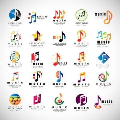 Poster Icone Music Set - isolato su sfondo grigio