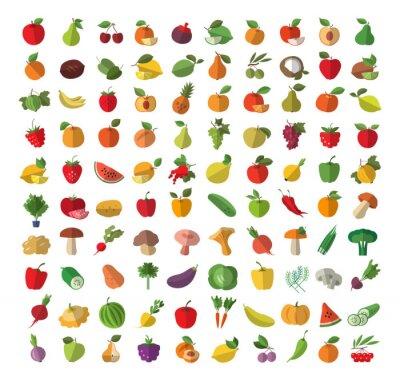 Poster Il cibo. Frutta e verdura.