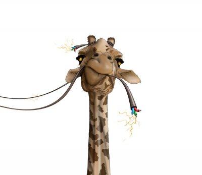 Poster il disegno di una giraffa