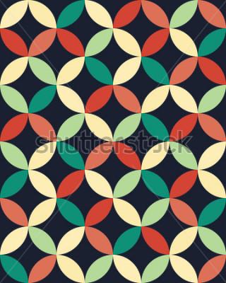 Poster Il modello geometrico astratto dei cuscini del cuscino a vita bassa modella