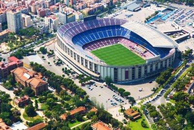 Poster Il più grande stadio di Barcellona da elicottero. Catalogna