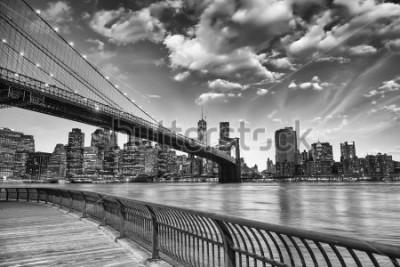 Poster Il ponte di Brooklyn a New York City.