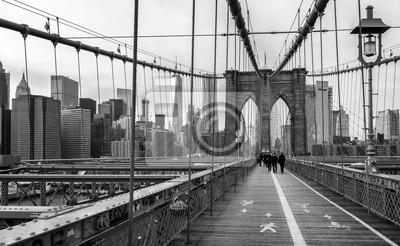 Poster Il ponte di Brooklyn a New York, Stati Uniti d'America.