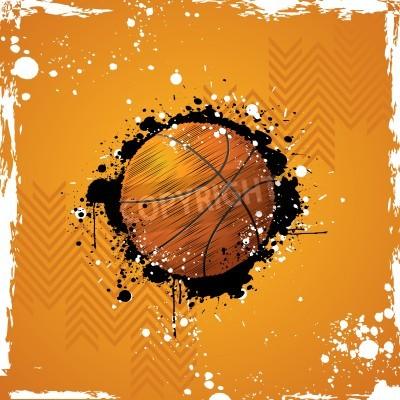 Poster illustrazione del basket su sfondo astratta grungy