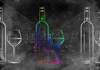 Poster Illustrazione di arte del vino