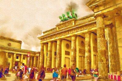 Poster illustrazione di arte di Berlino