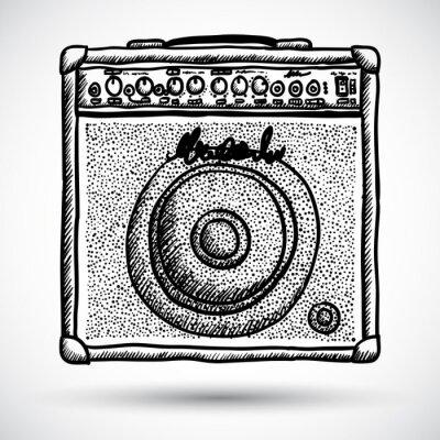 Poster Illustrazione Guitar Combo Amplifier Vector