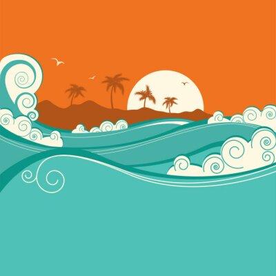 Poster illustrazione Mare background.Vector