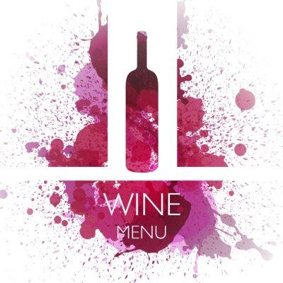 Poster Illustrazione vettoriale del Vino Modello di progettazione